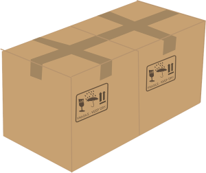 Moving boxes used by intrastate movers Dallas
