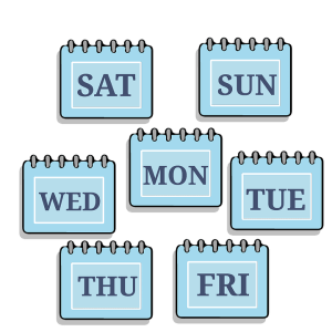 words saying days of the week