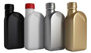 Bottles of engine oils