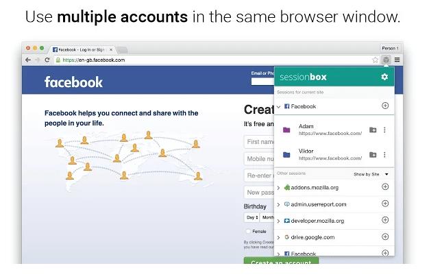 Utilizzare più account Facebook o di qualsiasi altro sito contemporaneamente