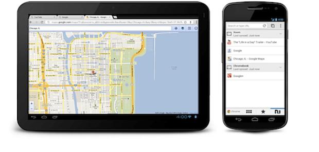 Chrome para Android ICS