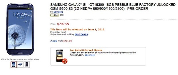 Samsung Galaxy S III Amazon