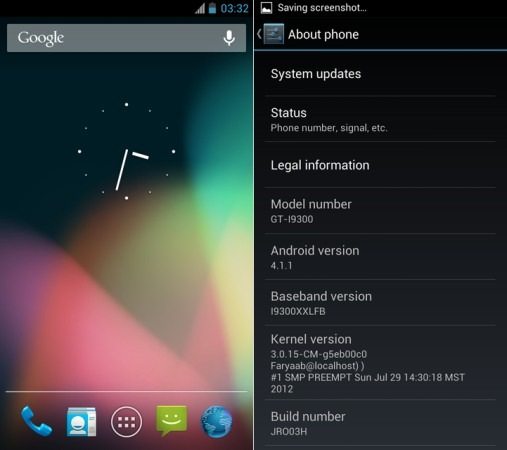 Galaxy S III Jelly Bean AOSP