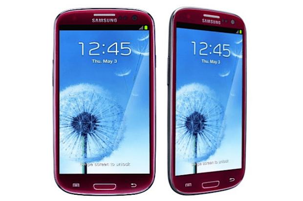 Samsung Galaxy S III rojo
