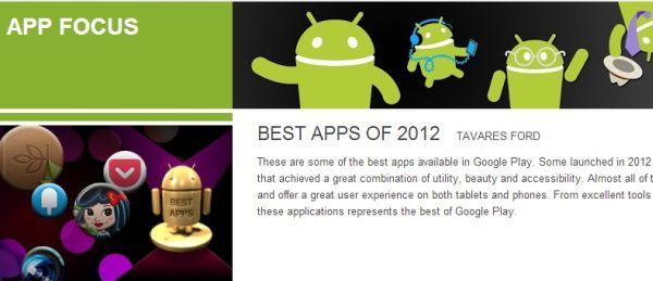 Mejores aplicaciones Android 2012