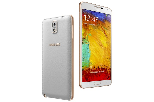 Galaxy Note tres Rose Gold White