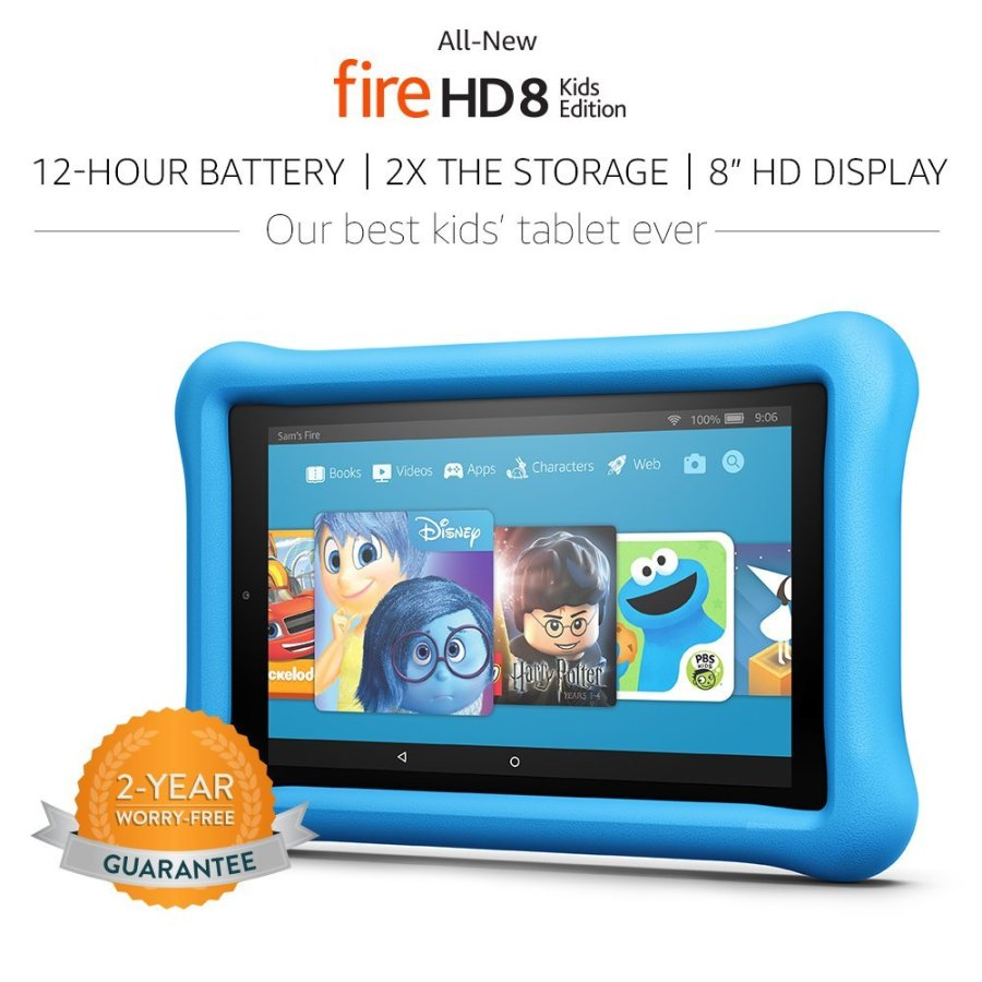 Amazon Fire HD 8 Kids Edition color azul.