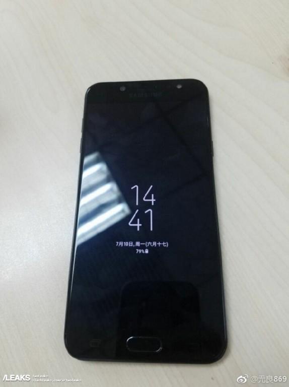Imagen frontal de la posible versión china del Samsung Galaxy J7 (2017).