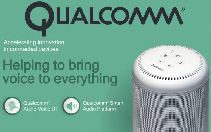 Render oficial del speaker inteligente Qualcomm Smart Audio Platform.