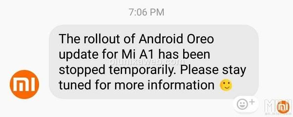 Mensaje oficial de un representante de Xiaomi en relación a Android Oreo para el Xiaomi Mi A1.