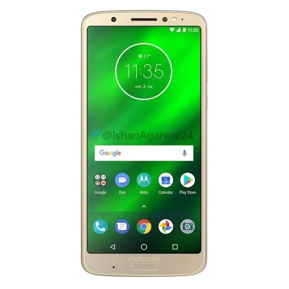 Motorola Moto G6 Plus dorado 2
