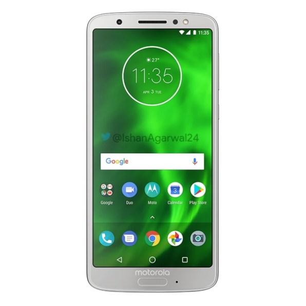 Motorola Moto G6 plateado 1
