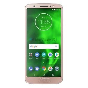 Motorola Moto G6 rosa dorado 1