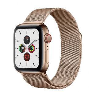 Apple Watch 5 Stainless Steel Gold Milanese Loop