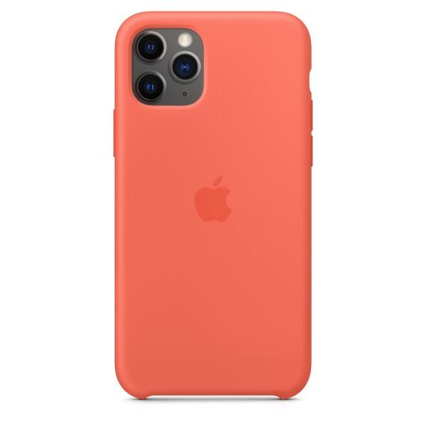 Husa de silicion originala Apple iPhone 11 Pro Clementine