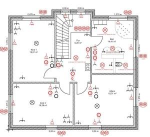 Elektroplanung - Grundriss eines Hauses