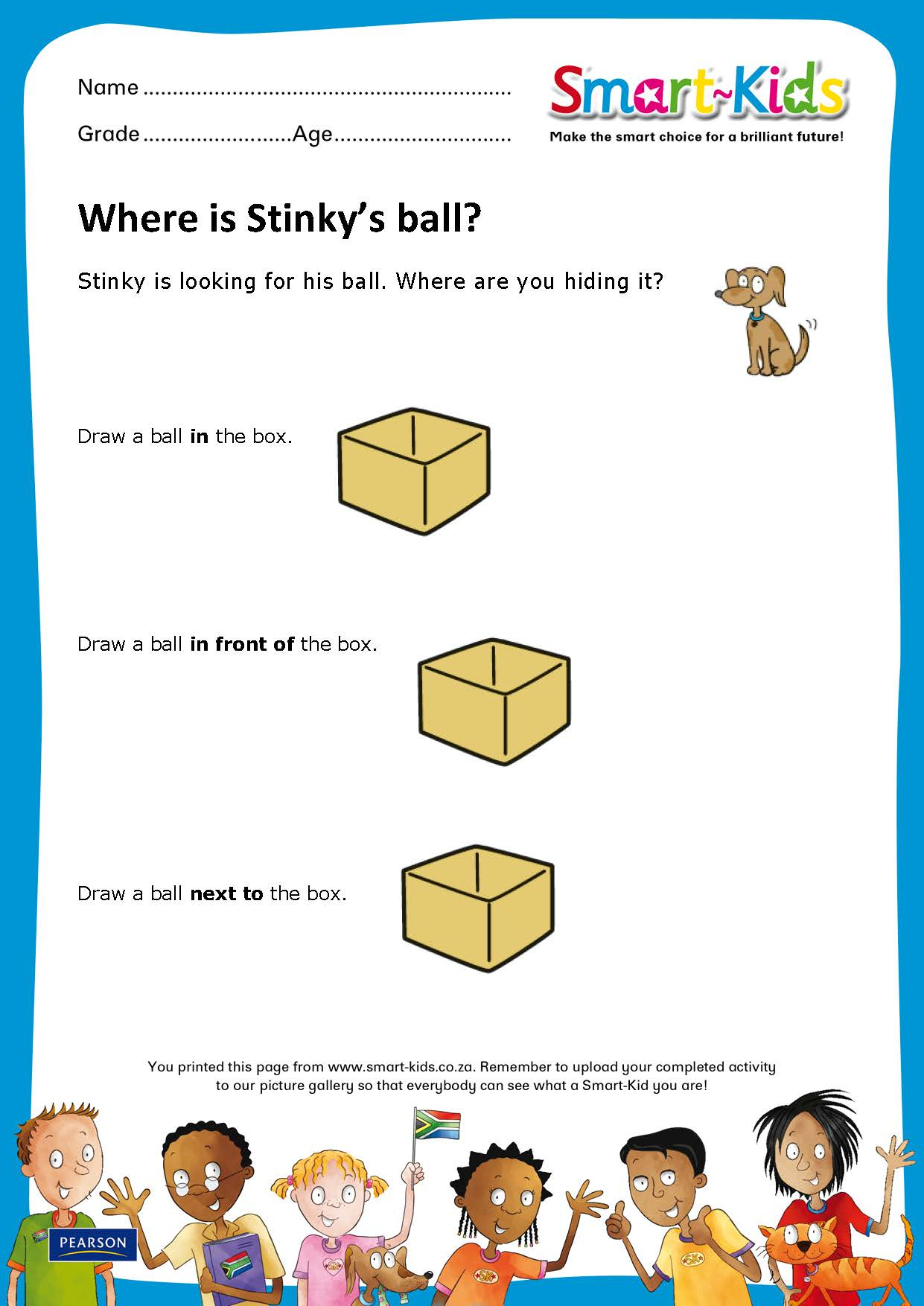 Sk Worksheet Where Is Stinkys Ball