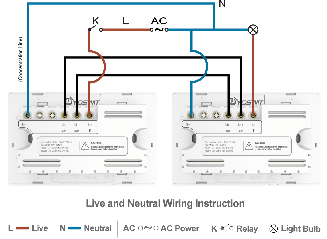 Three Wire Double Switch Wiring