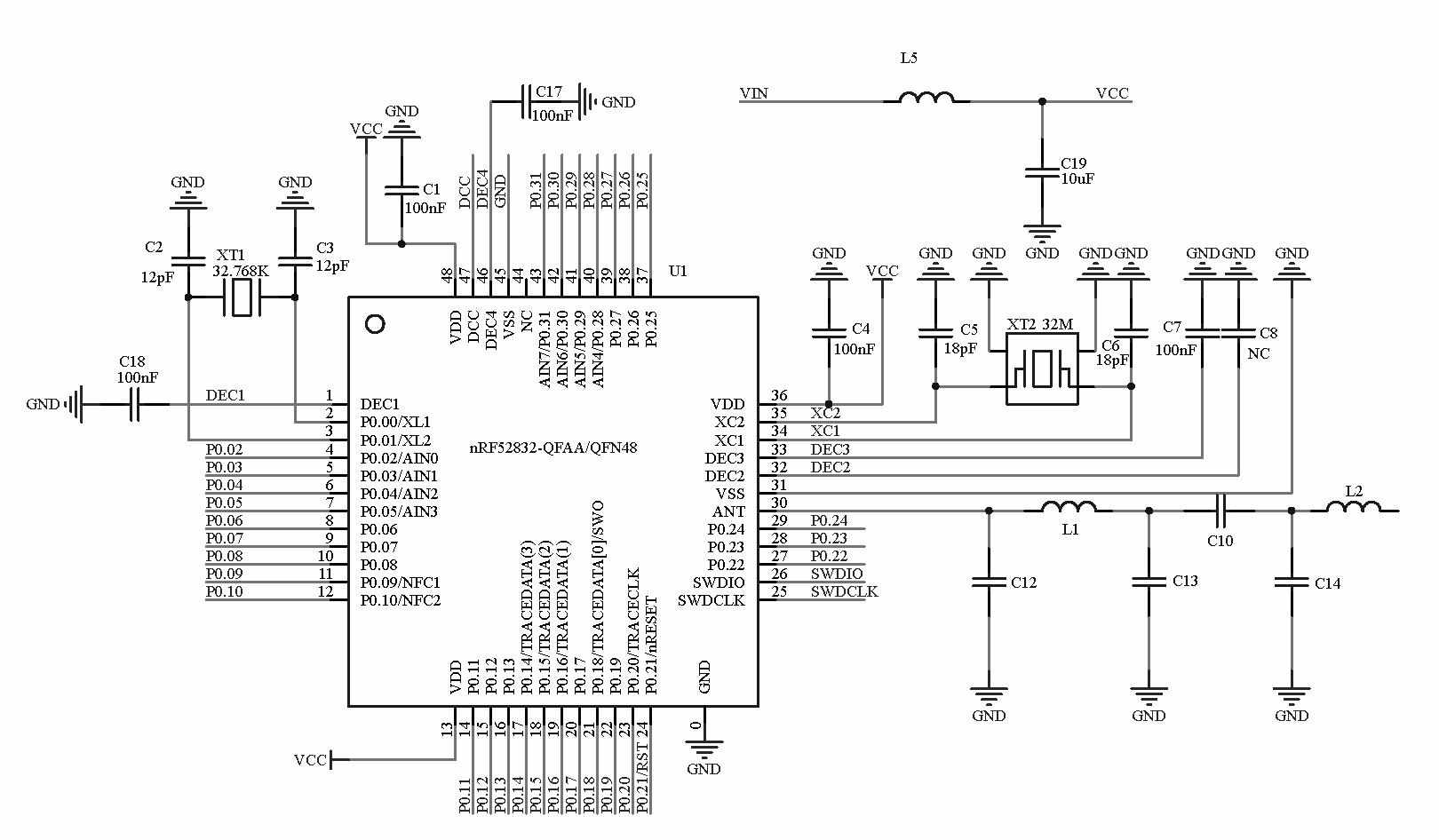Nrf Bluetooth Module Ce Fcc Half Cut Hole From Smart Prototyping On Tin