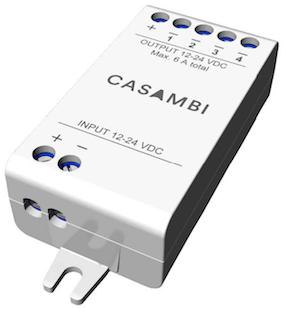 Module CBU-PWM4 Casambi pour ruban LED 24V RGBW ou blanc variable