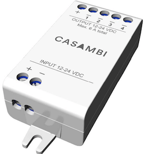 Module CBU-PWM4 Casambi pour ruban LED 24V RGBW ou blanc variable