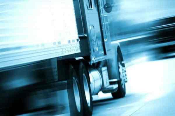 Speeding Semi Truck on Highway