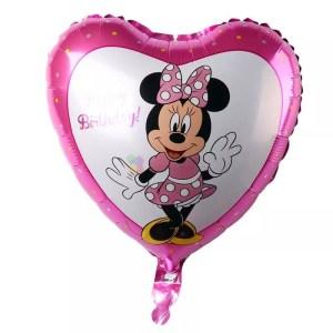 Balon Folie inima Minnie