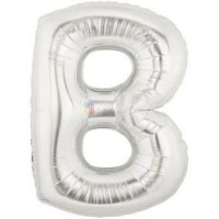 balon-folie-litera-b-argintiu