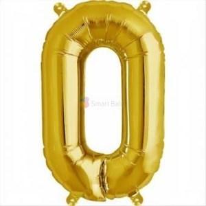 balon-folie-litera-o-auriu