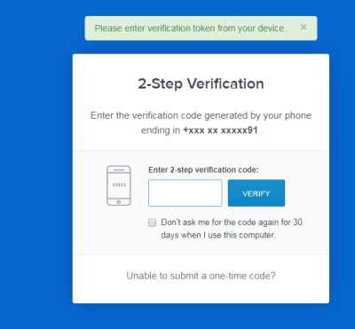 Coinbase 2FA Verification Step 3