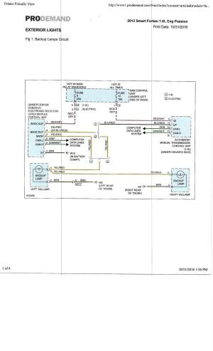 External lights wiring diagram  Smart Car Forums