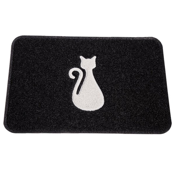 Smartcatcher-Mats-Modern-Cat-Litter-Box-Mats-Black-Grey 1