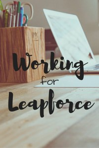 working for leapforce