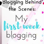 blogging behind the scenes