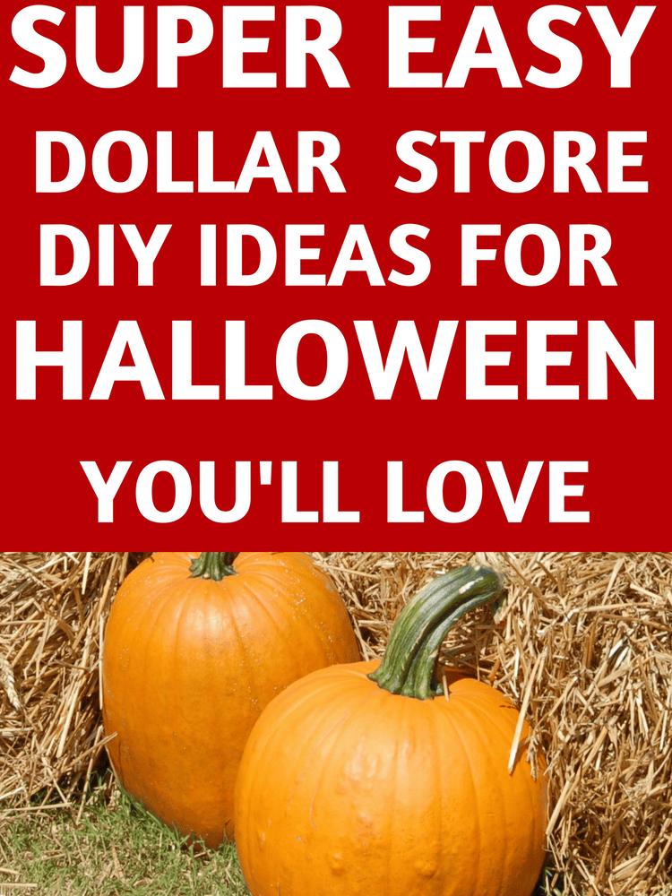 Easy Dollar Store DIY Decor Ideas for Halloween