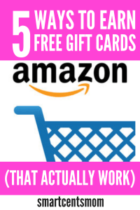 Simple ways to earn gift cards from Amazon for free! These are great ways to save up for your Christmas budget or pay for groceries on Amazon. Check out my favorite ways to earn extra cash with these survey sites that pay! #amazon #makemoney #giftcards