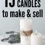 Easy DIY Candle Making Ideas! This list has the best DIY soy candle recipes with essential oils and beeswax candle recipes that are perfect for beginners. If you are looking for a way to create a business selling crafts from home this guide will get you started! #diy #makemoney #crafts #candles