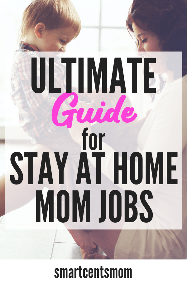 Stay at home mom jobs that will earn extra money from home! This ultimate guide has the best ideas for work from home jobs for moms and will help you pick the best job that fits your schedule and your needs. Find a work from home career, data entry jobs, make money with crafts, sell on Amazon, and more #workfromhome jobs!