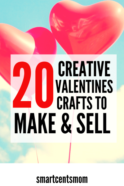 Valentines crafts to sell! These creative DIY crafts for Valentines are perfect for selling on Etsy, Ebay, or even at local craft fairs. Follow these DIY tutorials to make everything from bath bombs to wooden hearts. #DIY
