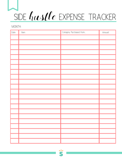 FREE Expense Tracker Printable for your Home Business or Side Hustle. I was struggling to keep track of all the expenses in my home business, so I decided to write down everything I was spending each month for my business. It helped me to save money and cut costs! Use this weekly and monthly expense tracker to help grow your business or side hustle!
