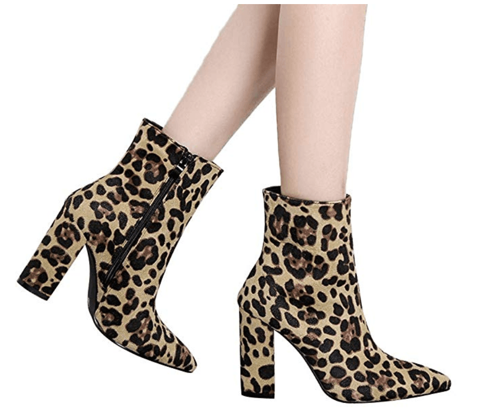 beautiful fall outfits under 30 leopard print booties