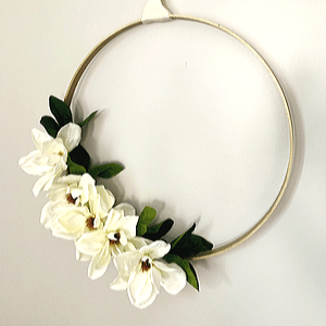 embroidery hoop wreath for white christmas