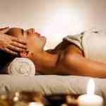 A woman gets a massage