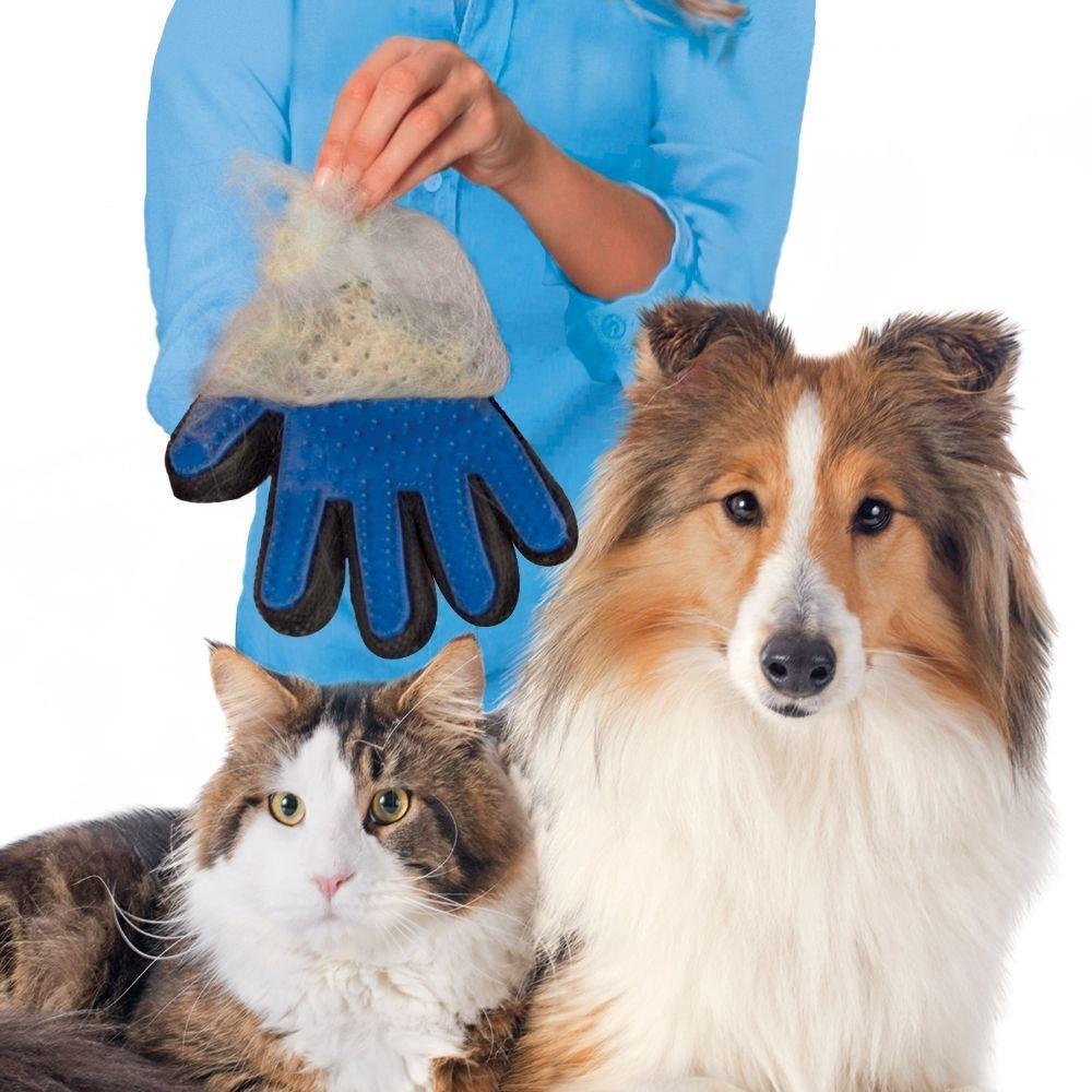 pet grooming gloves
