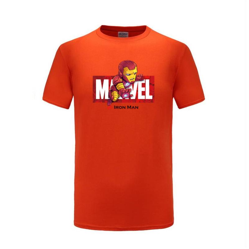 cotton t shirts ironman orange