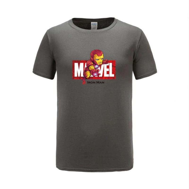 cotton t shirts ironman grey