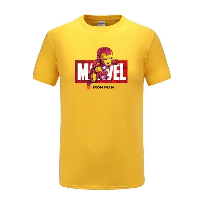 cotton t shirts captain america navy yellow