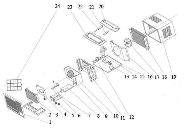 window air conditioner spare parts list pdf