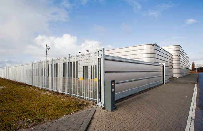 building parking lot security gate