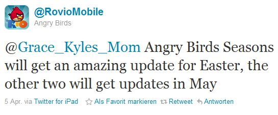Angry Birds Updates